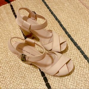 Marc by Marc Jacobs Leather Platform Sandals